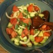 Tomato Cucumber Salad with Italian Dressing