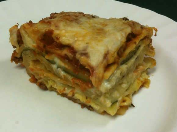 Lasagna with Fresh Zucchini and Herbs