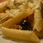 Greek Pasta Salad with Mint - on plate