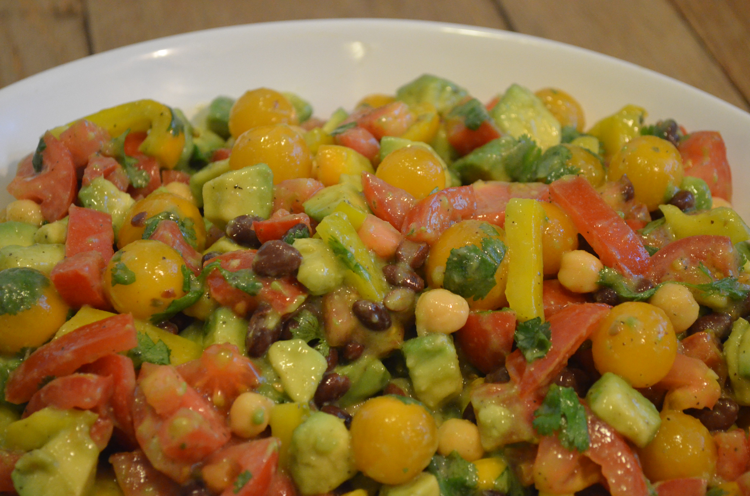 ... variation on my Avocado / Tomato Salad with Cilantro & Lime recipe