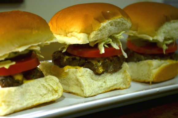 Sliders –  Mini Cheeseburgers – Great for Game Day