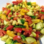 Indian Cucumber Tomato and Chic Pea Salad