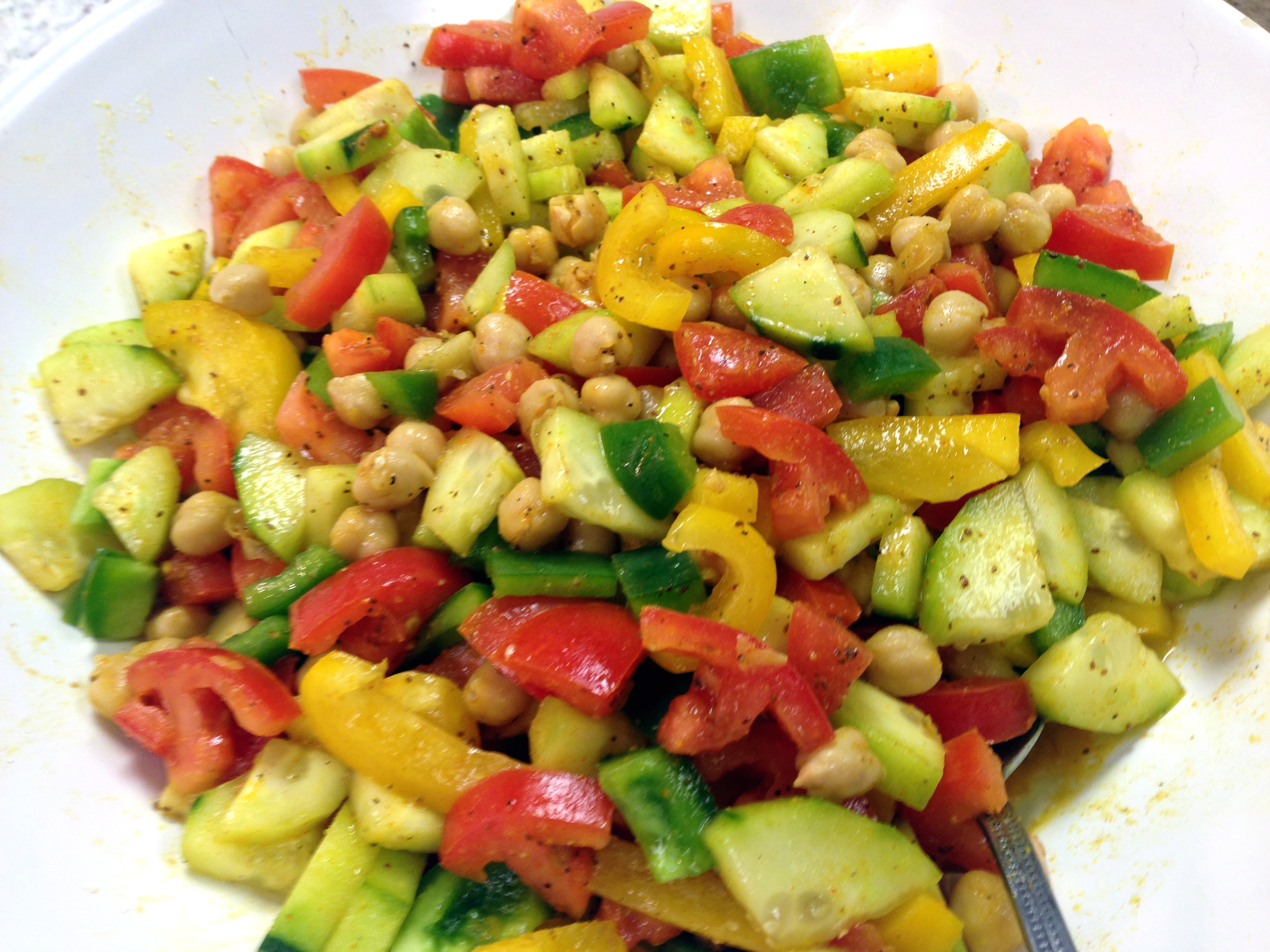 Cucumber Tomato Chickpea Salad — 52 Sunday Dinners