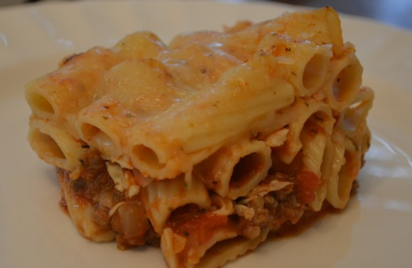 Baked Ziti with Italian Sausage & Mozzarella Cheese