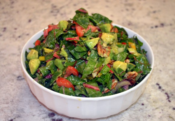 Rainbow Swiss Chard Salad